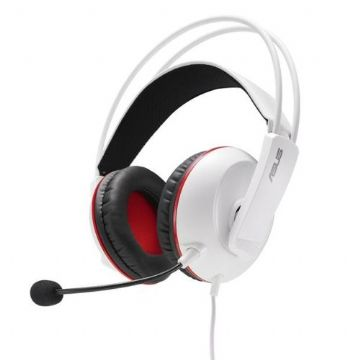 Asus Cerberus Arctic Gaming Headset, 60mm Drivers, Full-size Cushions